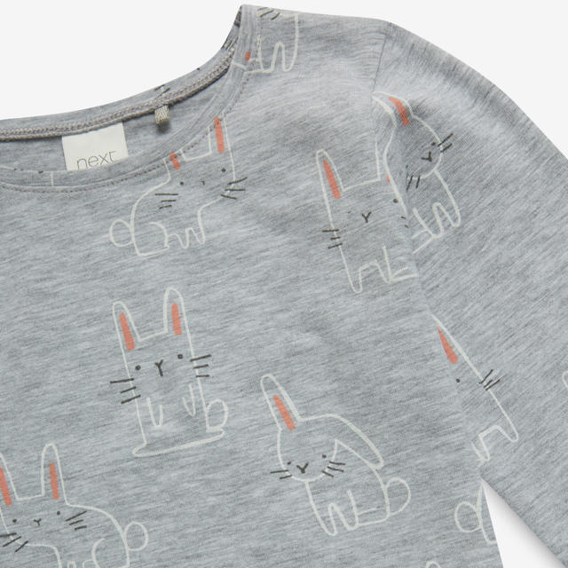 NEXT(ネクスト)の【新品】next グレーバニー 長袖Tシャツ(ヤンガー) キッズ/ベビー/マタニティのベビー服(~85cm)(シャツ/カットソー)の商品写真