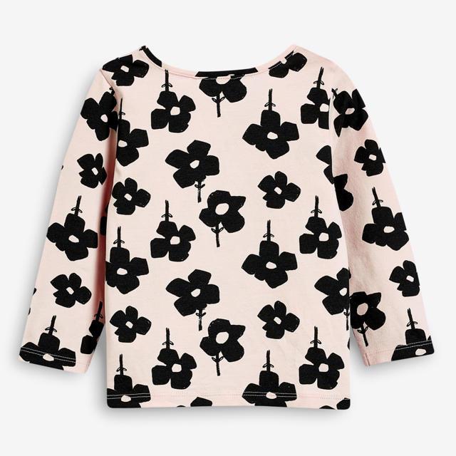NEXT(ネクスト)の【新品】next ピンクフローラル 長袖Tシャツ(ヤンガー) キッズ/ベビー/マタニティのベビー服(~85cm)(シャツ/カットソー)の商品写真