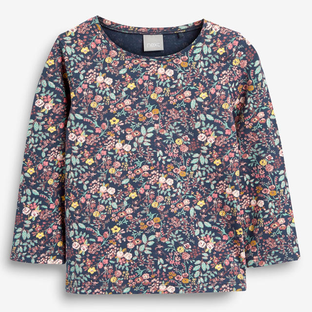 NEXT(ネクスト)の【新品】next ネイビー 長袖Tシャツ(ヤンガー) キッズ/ベビー/マタニティのベビー服(~85cm)(シャツ/カットソー)の商品写真