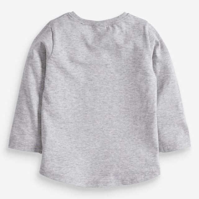 NEXT(ネクスト)の【新品】next グレー スパンコールサンタTシャツ(ヤンガー) キッズ/ベビー/マタニティのベビー服(~85cm)(シャツ/カットソー)の商品写真
