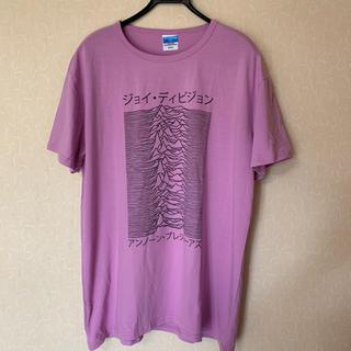 カタカナ日本語ジョイディビジョンバンドTシャツJoy Divisionパープル(Tシャツ/カットソー(半袖/袖なし))
