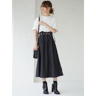 【美品】Amel エイメル ハトメループブラックデニムスカート
