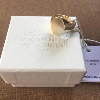 マルタンマルジェラ(Maison Martin Margiela)の18AW新品M マルジェラ ツートーン シグネットリング シルバー(リング(指輪))