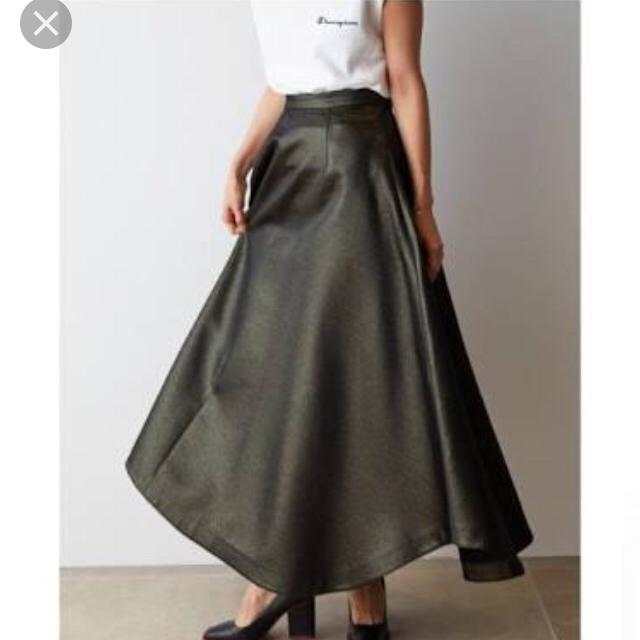 FRAY I.D(フレイアイディー)のfray id  ラメ アシンメトリーロングスカート レディースのスカート(ロングスカート)の商品写真