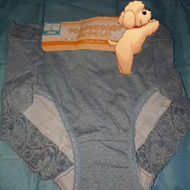 送料込 新品未使用!やわらかな履き心地で肌に優しいショーツ2枚組L レディースの下着/アンダーウェア(ショーツ)の商品写真