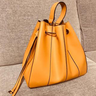 ZARA - ZARA  ザラの巾着  ハンドバッグ  マスタード  からし色