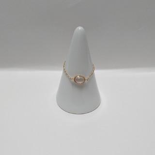 アガット(agete)のジュピター   blissfulリング(ローズクォーツ) K10 YG(リング(指輪))