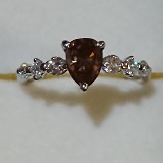ブラウンダイヤptリング(リング(指輪))