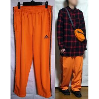 adidas - アディダス ワイドトラックパンツ ジャージ サイズ O XL オレンジ