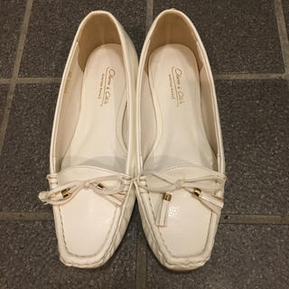 オデットエオディール(Odette e Odile)のオデットエオディール  白 ホワイト ローファー 22cm レインシューズ(ローファー/革靴)