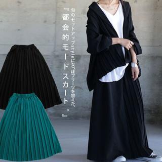 新品タグ無し☆彡【antiqua】モード プリーツ スカート ブラック