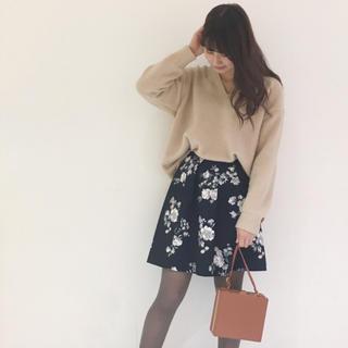 マーキュリーデュオ(MERCURYDUO)のMERCURYDUO 花柄スカート(ミニスカート)