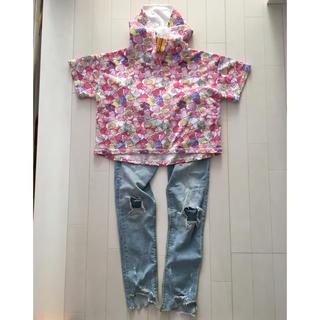 シマムラ(しまむら)の半袖パーカー 140 半袖Tシャツ(Tシャツ/カットソー)