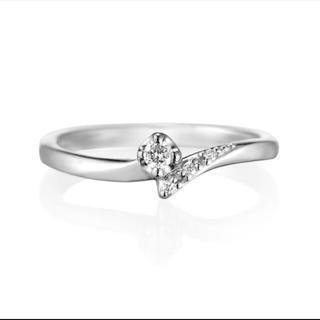 ヨンドシー(4℃)の4℃ K10 ホワイトゴールド  指輪 リング(リング(指輪))