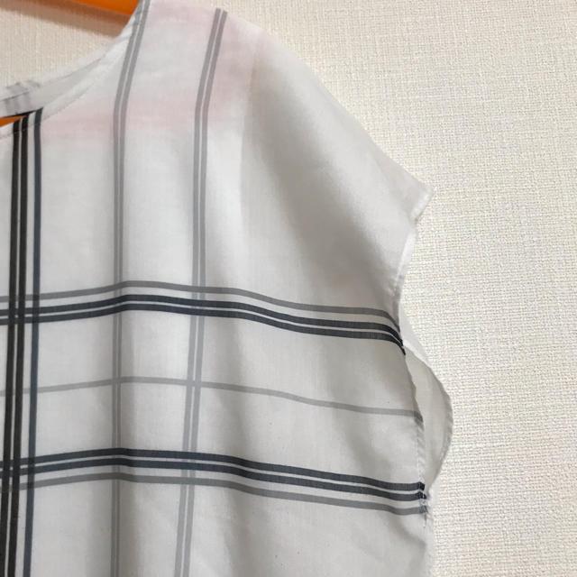 23区(ニジュウサンク)の23区 ブラウス チェック レディースのトップス(シャツ/ブラウス(半袖/袖なし))の商品写真