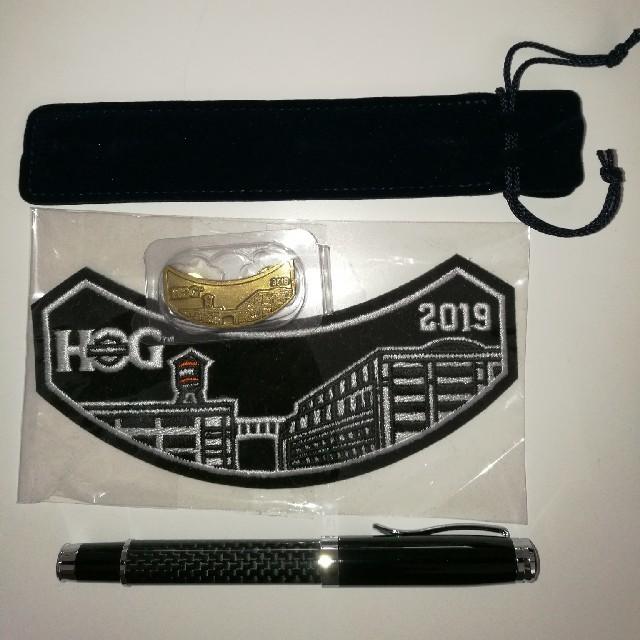 Harley Davidson(ハーレーダビッドソン)のHOG グッズ ワッペン ボールペン ピンバッジ エンタメ/ホビーの雑誌(車/バイク)の商品写真