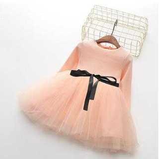 子供用 チュチュ プリンセスドレス 100cm ピンク かわいい キッズ(ワンピース)
