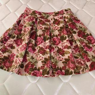 evelyn - evelyn 花柄 ミニスカート