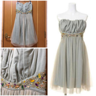 リリーブラウン(Lily Brown)のlilybrown♡ベアトップドレス(ベアトップ/チューブトップ)