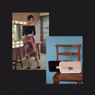 マーキュリーデュオ(MERCURYDUO)の美品✨マーキュリーデュオ✨ベロア チェーン ショルダー クラッチ バッグ 結婚式(ショルダーバッグ)