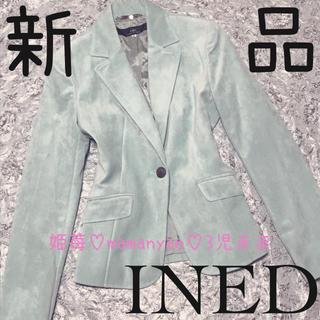 イネド(INED)の新品♡クリスマス♡トレンド♡ベロア♡コーデュロイ♡キレイめ♡美シルエット♡映え♡(テーラードジャケット)