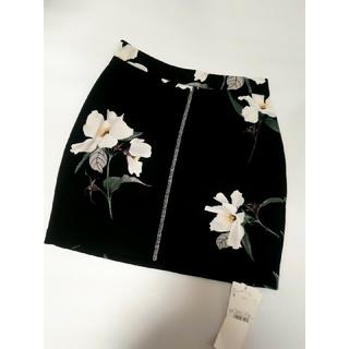 snidel - 新品未使用❤️snidel スナイデル 花柄タイトスカート ブラック 黒 ミニ