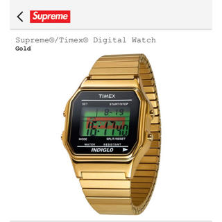 Supreme Timex タイメックス Digital Watch Gold