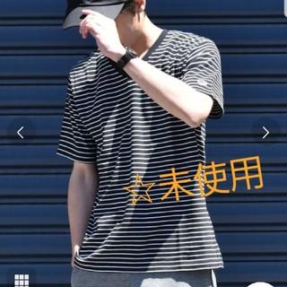シップス(SHIPS)の☆未使用品☆Champion×SHIPS: 別注 ボーダー Vネック Tシャツ(Tシャツ/カットソー(半袖/袖なし))