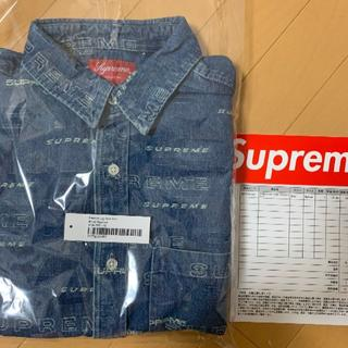 Supreme - Mサイズ Dimensions Logo Denim Shirt Supreme
