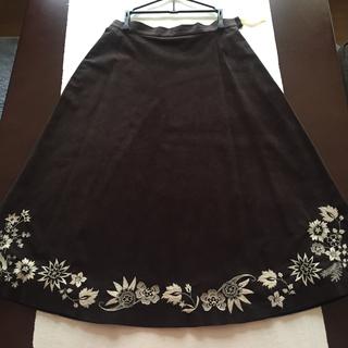 ニジュウサンク(23区)の23区 裾のレースが素敵なフレアースカート 🌹(ロングスカート)
