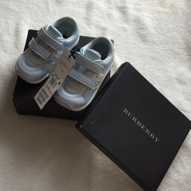 BURBERRY(バーバリー)の新品BURBERRY バーバリー キッズスニーカー 14cm キッズ/ベビー/マタニティのベビー靴/シューズ(~14cm)(スニーカー)の商品写真