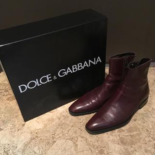DOLCE&GABBANA - ドルチェ&ガッバーナ  サイドジップ ブーツ ブラウン サイズ5 1/2
