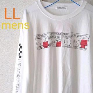ピーナッツ(PEANUTS)のLL★SNOOPY スヌーピー★長袖トップス ロンT(Tシャツ/カットソー(七分/長袖))