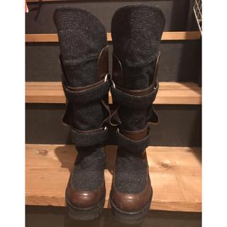 マルニ(Marni)のマルニ レザー×フェルト ブーツ サイズ36 used(ブーツ)