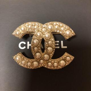 CHANEL - CHANEL定番パールゴールドブローチ美品