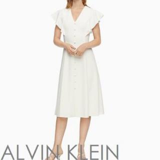 カルバンクライン(Calvin Klein)のカルバンクライン calvin klein ワンピース ホワイト (ひざ丈ワンピース)
