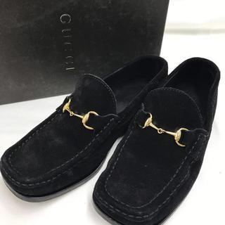 グッチ(Gucci)の❤️値下げ❤️ GUCCI グッチ スエード ローファー ブラック レディース(ローファー/革靴)