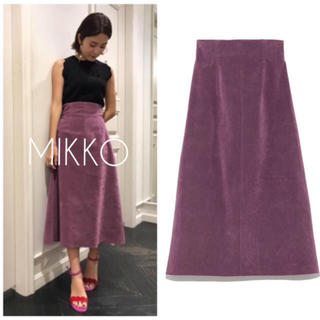 美品 フレイアイディー ヌバック風台形スカート
