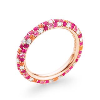 ポンテヴェキオ(PonteVecchio)の美品 ポンテヴェキオ エテルニーナ リング・指輪  K18 ダイヤモンド(リング(指輪))
