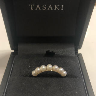 タサキ(TASAKI)の美品 タサキ 田崎真珠 tasaki k18 WG パール 本真珠リング(リング(指輪))