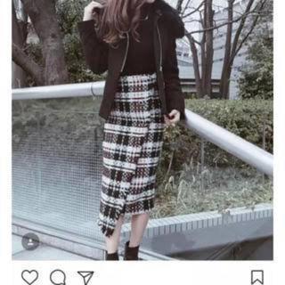 eimy istoire - eimy istoire ポイントボタンツイードスカート