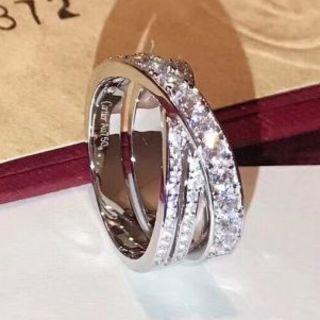 Cartier - カルティエ トリニティ ダイヤモンド リング