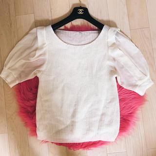 グレイル(GRL)のグレイル 袖シースルー ニット(ニット/セーター)