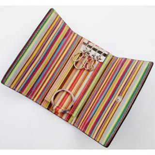 ポールスミス(Paul Smith)の贈り物に☆新品/箱付 ポールスミス マルチインサイド キーケース 濃茶(キーケース)