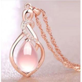 138 ペンダント レディース ピンク水晶(ネックレス)