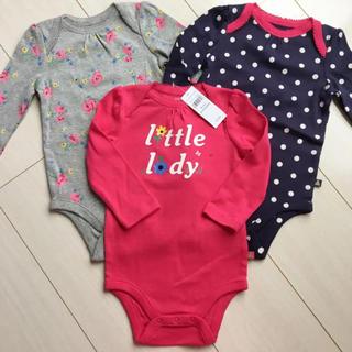 ベビーギャップ(babyGAP)の新品♡babygap 70 ロンパース ボディシャツ 3枚セット(ロンパース)