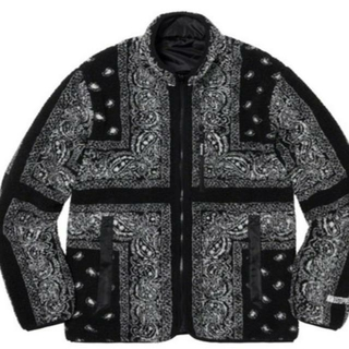 Supreme - Reversible Bandana Fleece Jacket Black M