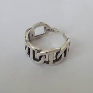 アンカーチェーン 太型 シルバーリング silver925 フリー サムリング (リング(指輪))