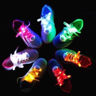 光る靴紐 LED靴ひも アクセサリー イベント LEDライト ウォーキング ③③(スニーカー)