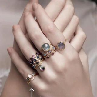 アガット(agete)のagete k10 2.6万 ダイヤモンド ピンキー リング 5号 指輪 ♯5(リング(指輪))